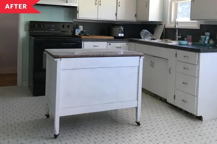 peel and stick tile kitchen flooring