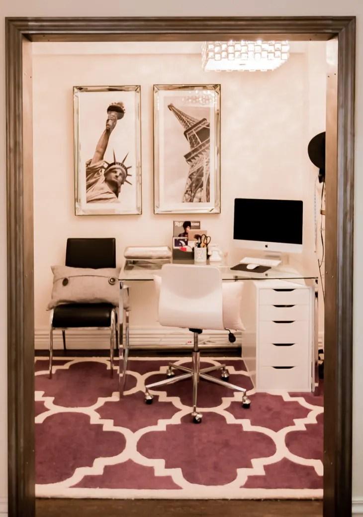 small windowless office feel bigger