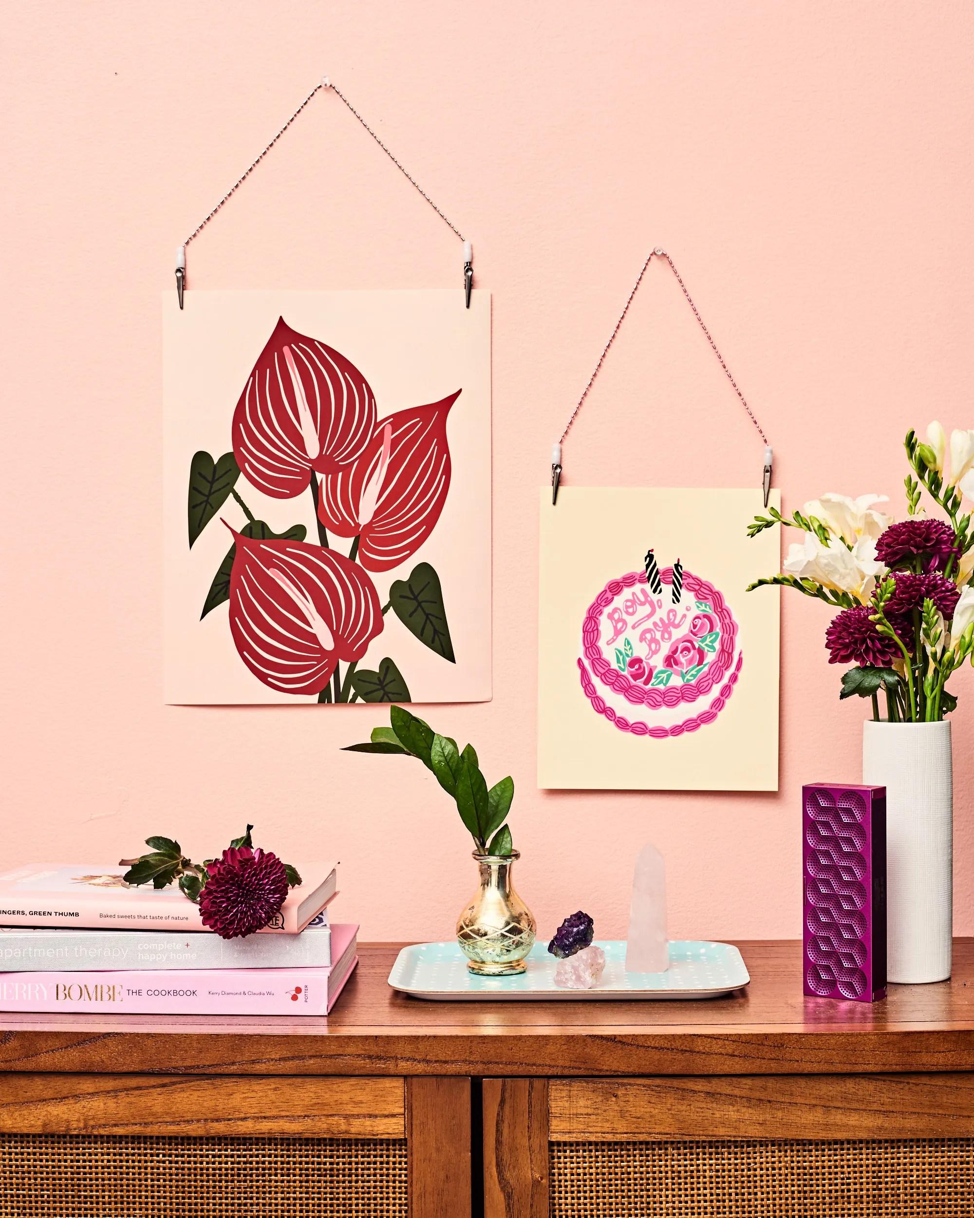 best diy ways to hang unframed posters