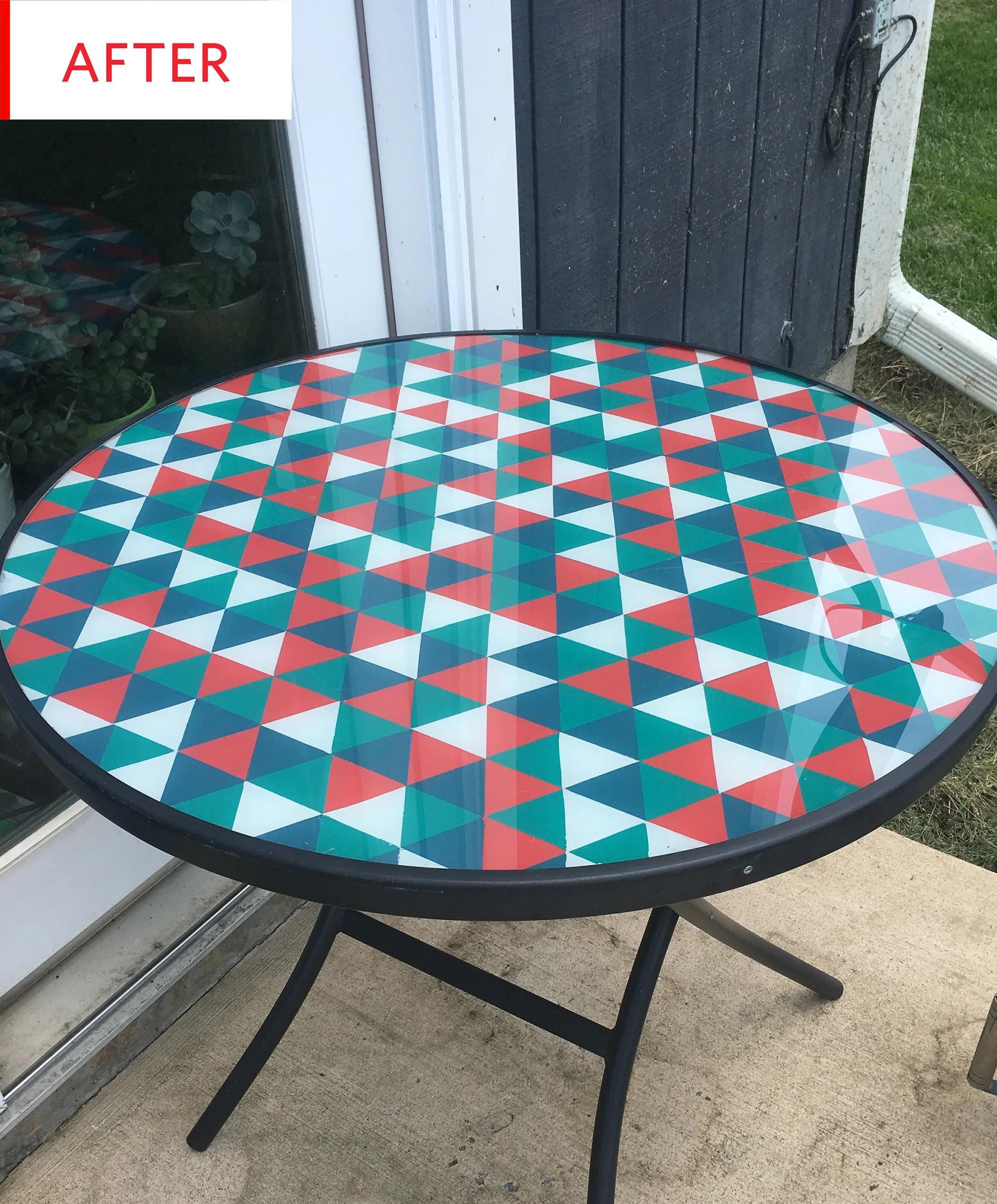 patio table ideas glass table top diy