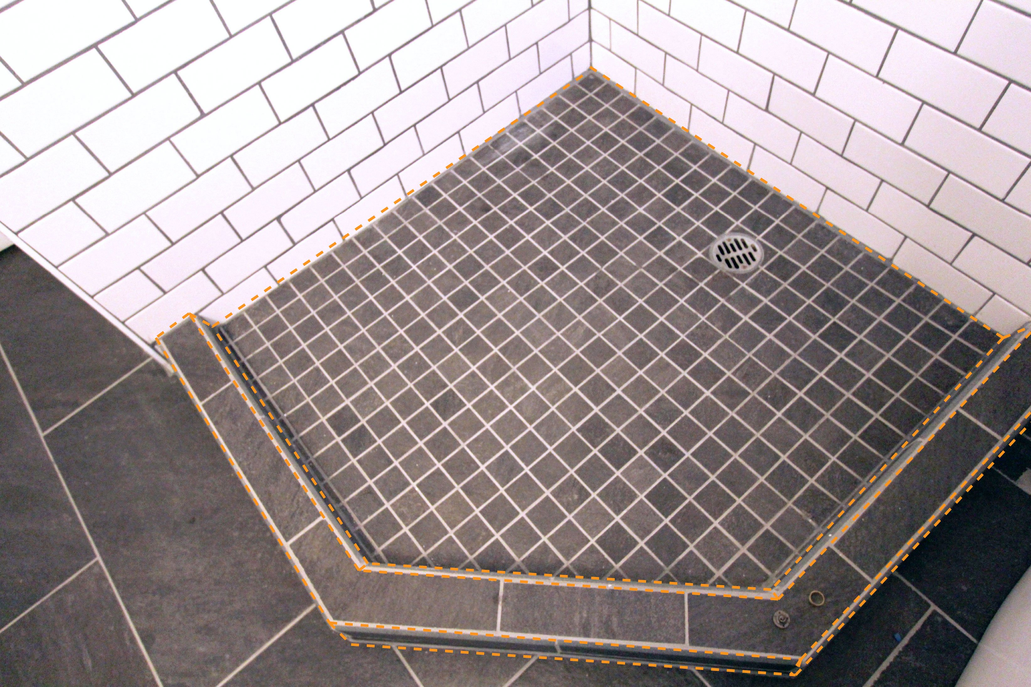 how to build a shower pan apartment