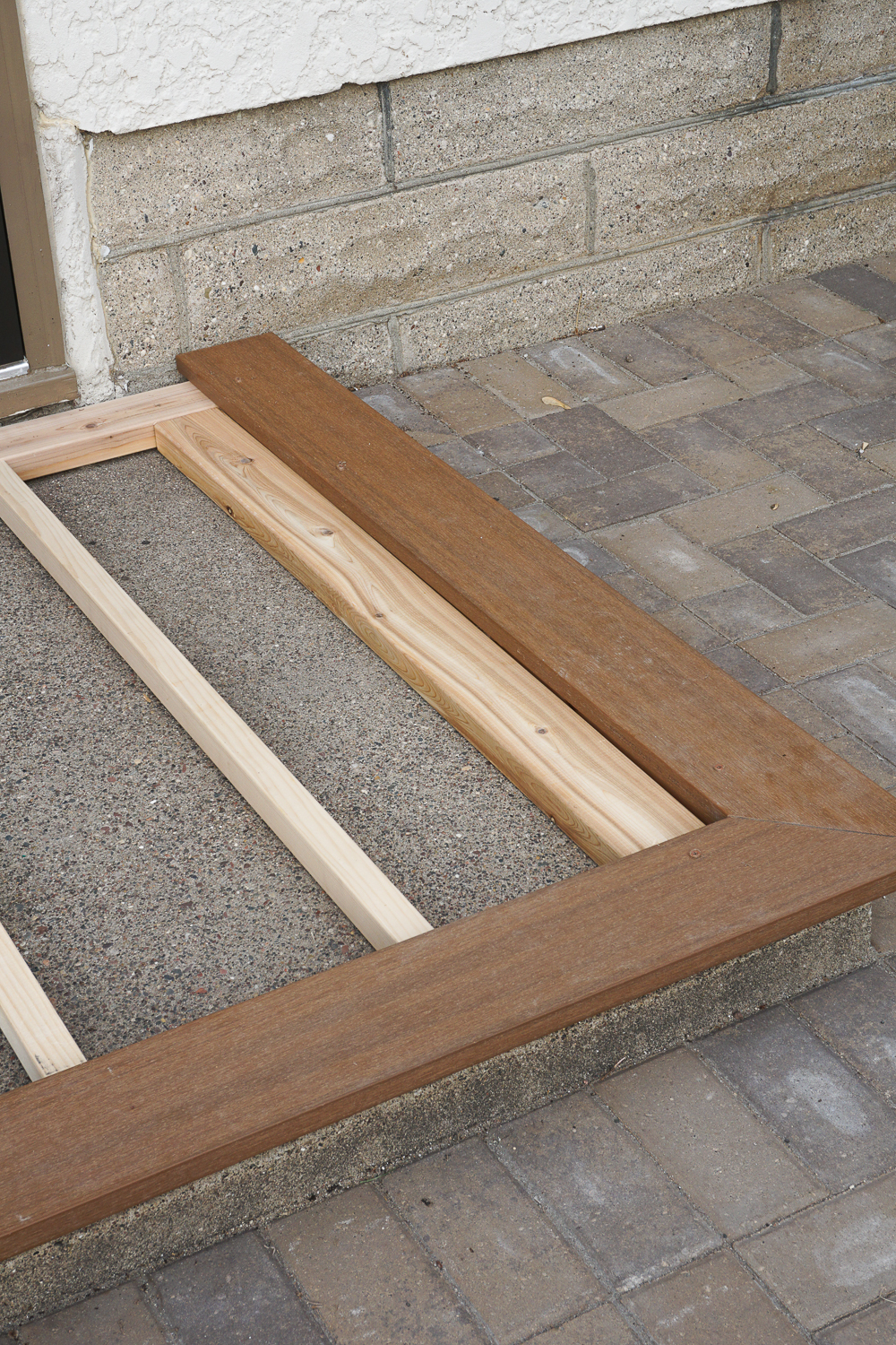 to build a deck over ugly cement stoop