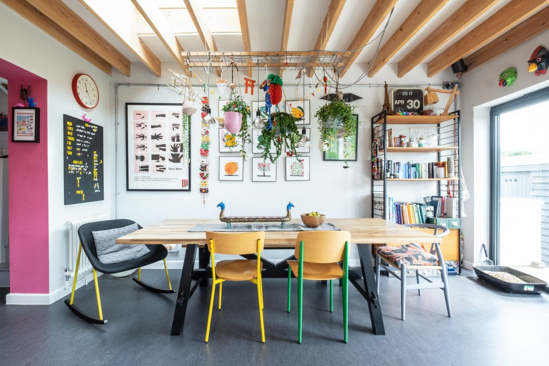 This Illustrator's Colorful, Maximalist Bristol Home Is Extraordinarily Joyful
