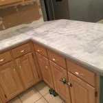 Faux Marble Epoxy Kitchen Countertops Makeover Apartment Therapy