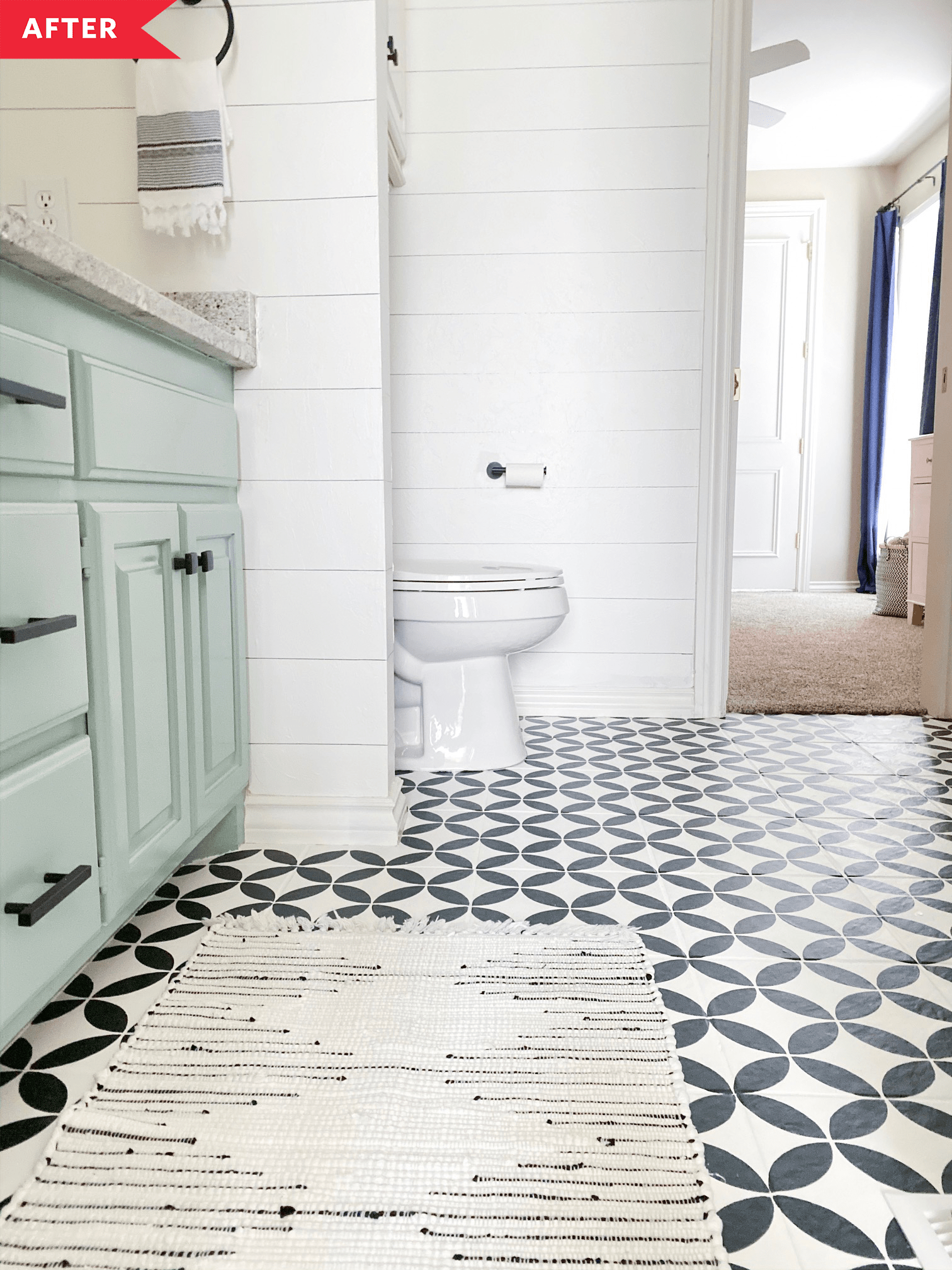 how to paint a tile floor apartment
