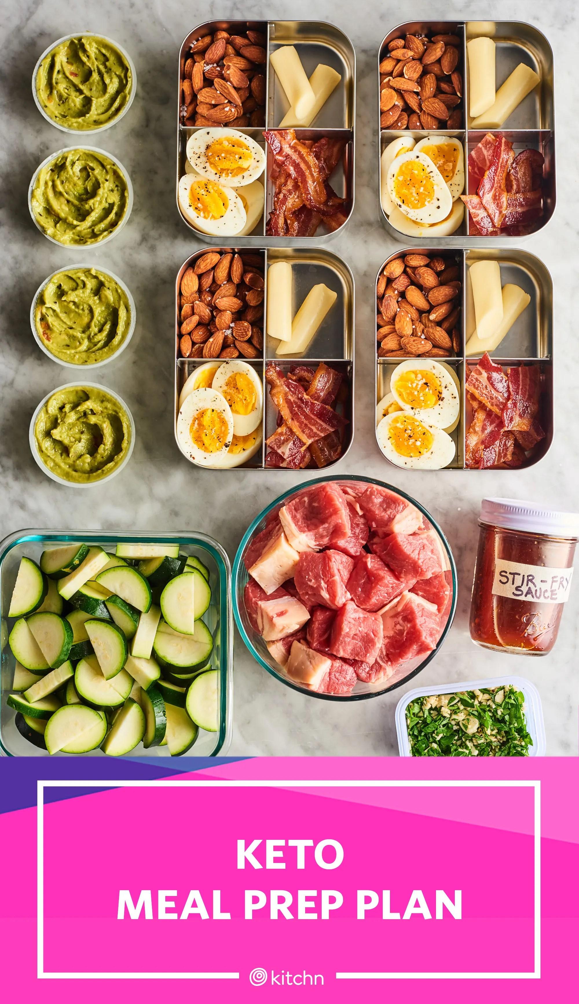 keto meal prep for 1 week of keto meals