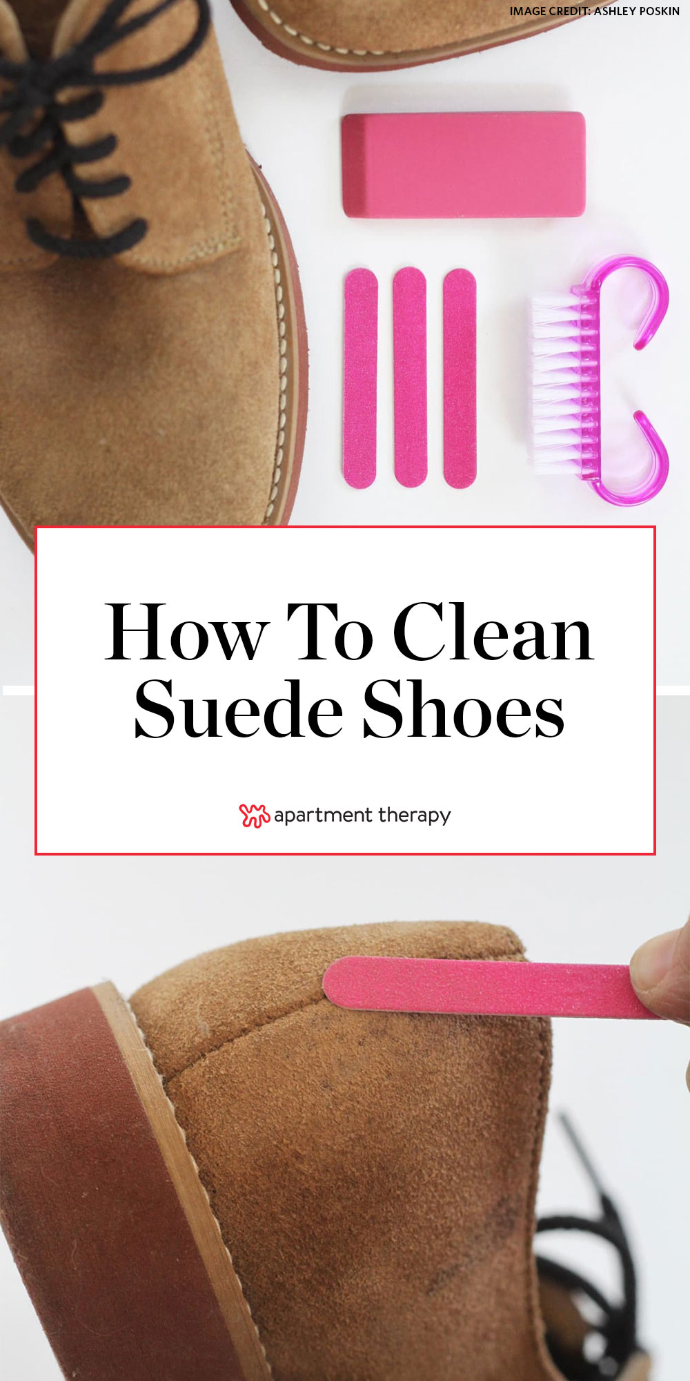 How To Clean Suede Shoes At Home Best Diy Way To Clean Stains Off Suede Apartment Therapy