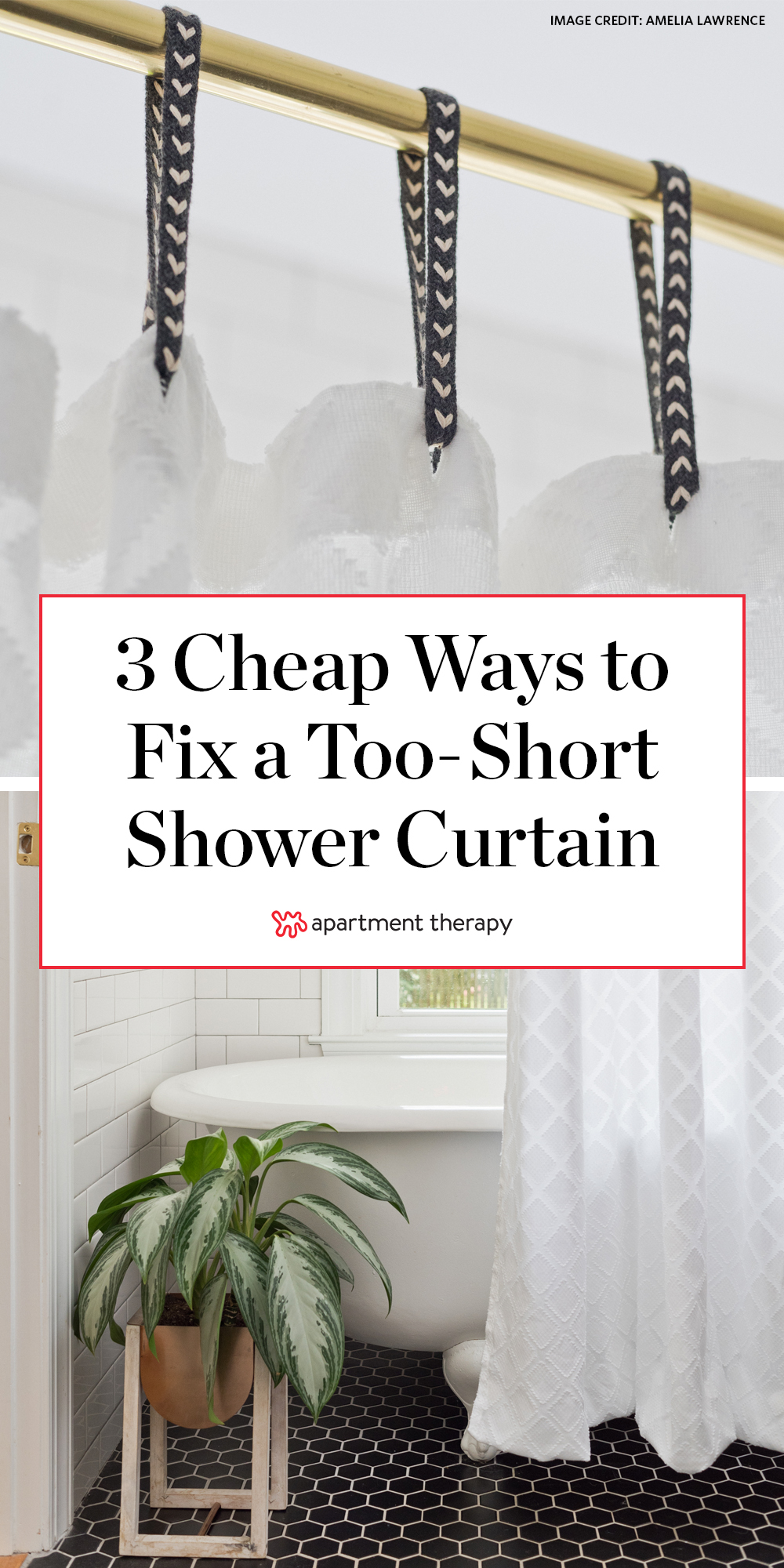 change the length of a shower curtain
