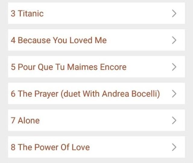 Hit Celine Dions Songs Lyrics