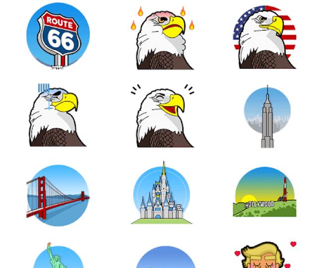 Usmoji Trump Stickers For Messenger  Screenshot