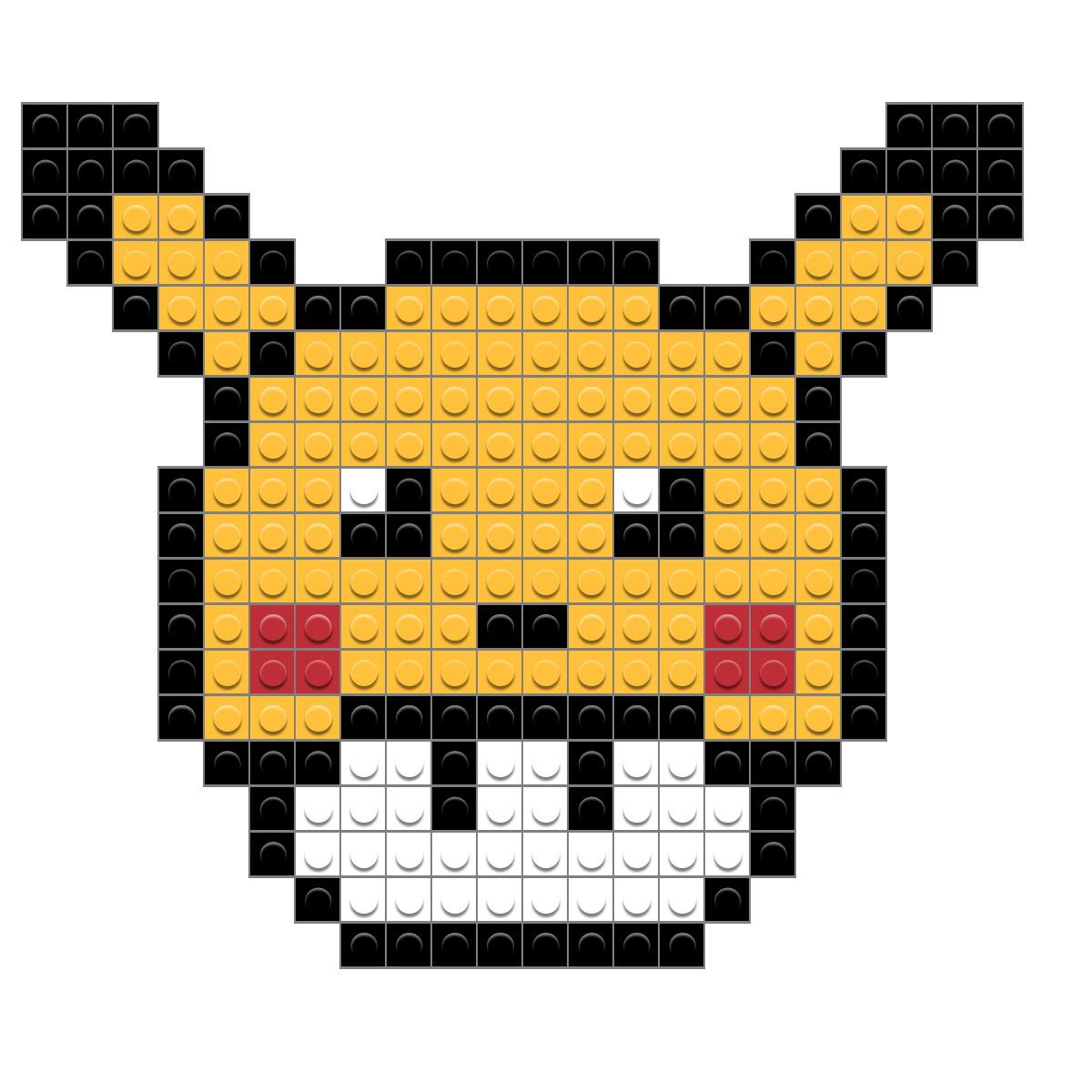 Super Mario Pixel Art Template