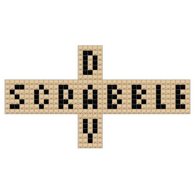 Scrabble Day Pixel Art – BRIK