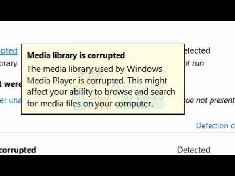 Medienbibliothek ist beschädigt