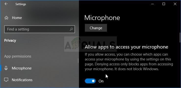 Mikrofonberechtigungen in den Windows 10-Einstellungen