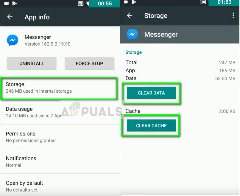 Daten in Messenger löschen