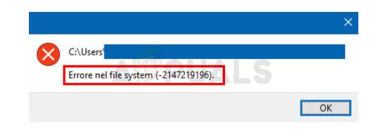 Fotos Dateisystemfehler in Windows 10