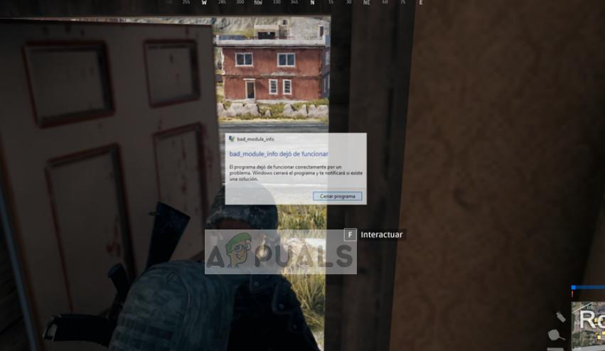 bad_module_info funktioniert in PUBG nicht mehr
