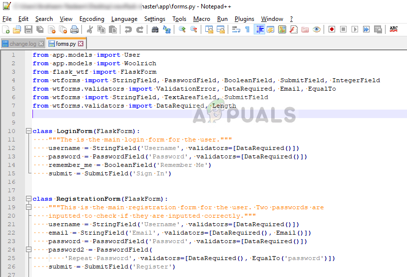 Beispielcode mit korrekter Einrückung in Python