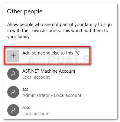Fügen Sie diesem PC eine andere Person hinzu