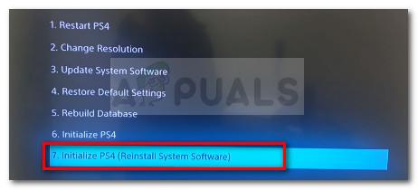 Initialisieren und starten Sie Ps4 neu und installieren Sie das Software-Update neu