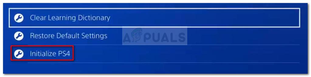 PS4 initialisieren