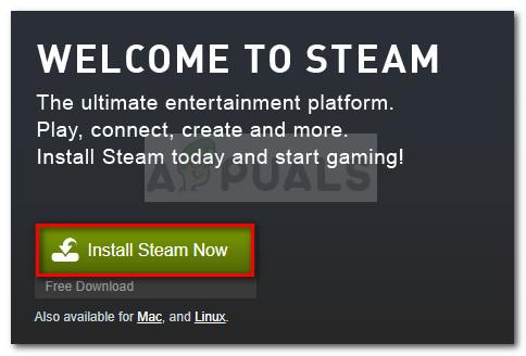 Laden Sie die ausführbare Steam-Installationsdatei herunter