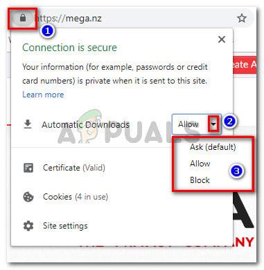 Mega.nz ändert das Standard-Download-Verhalten