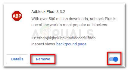 Entfernen oder deaktivieren Sie Adblock