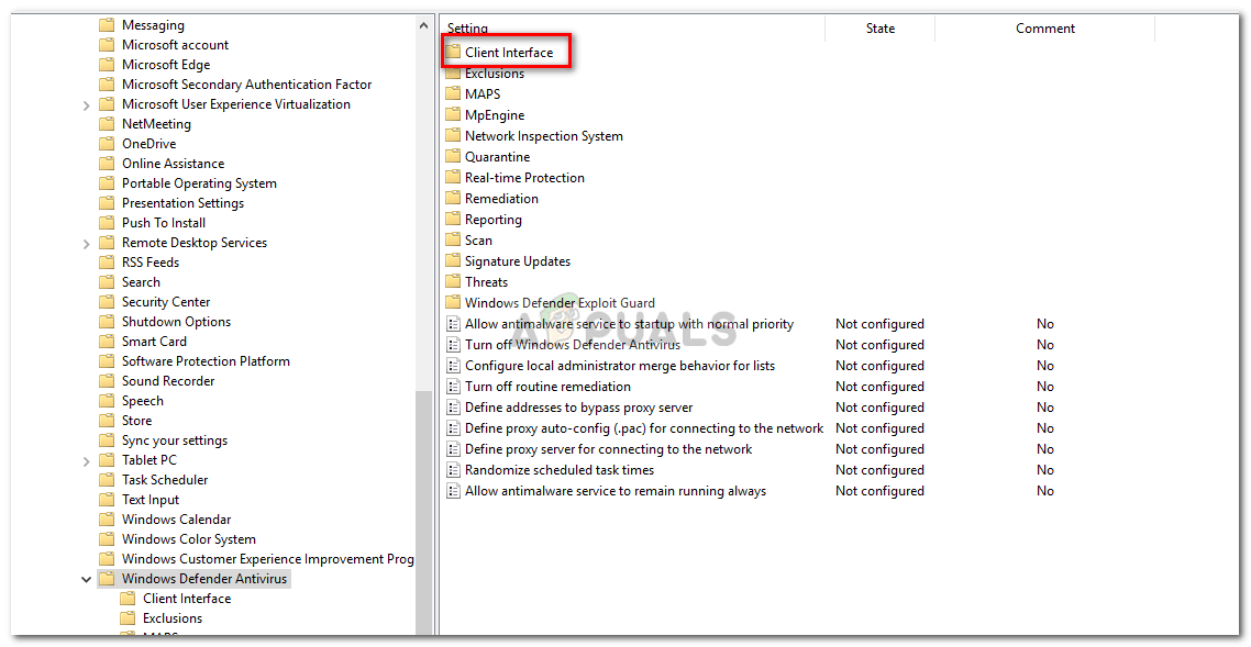 Windows Defender-Richtlinien