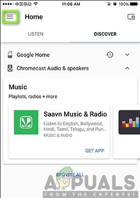 Google Home-Menü