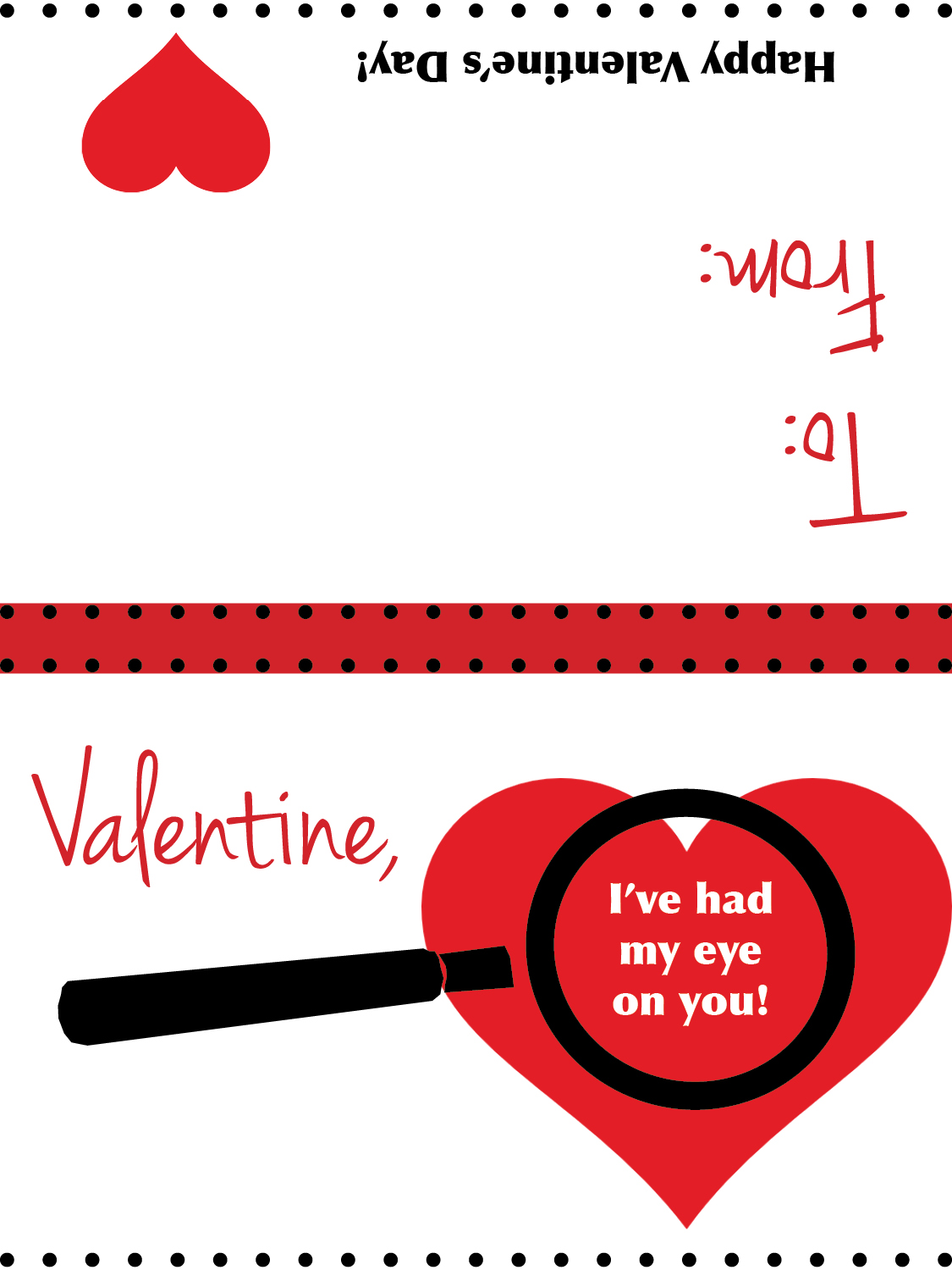 Magnifying Glass Valentine S Card