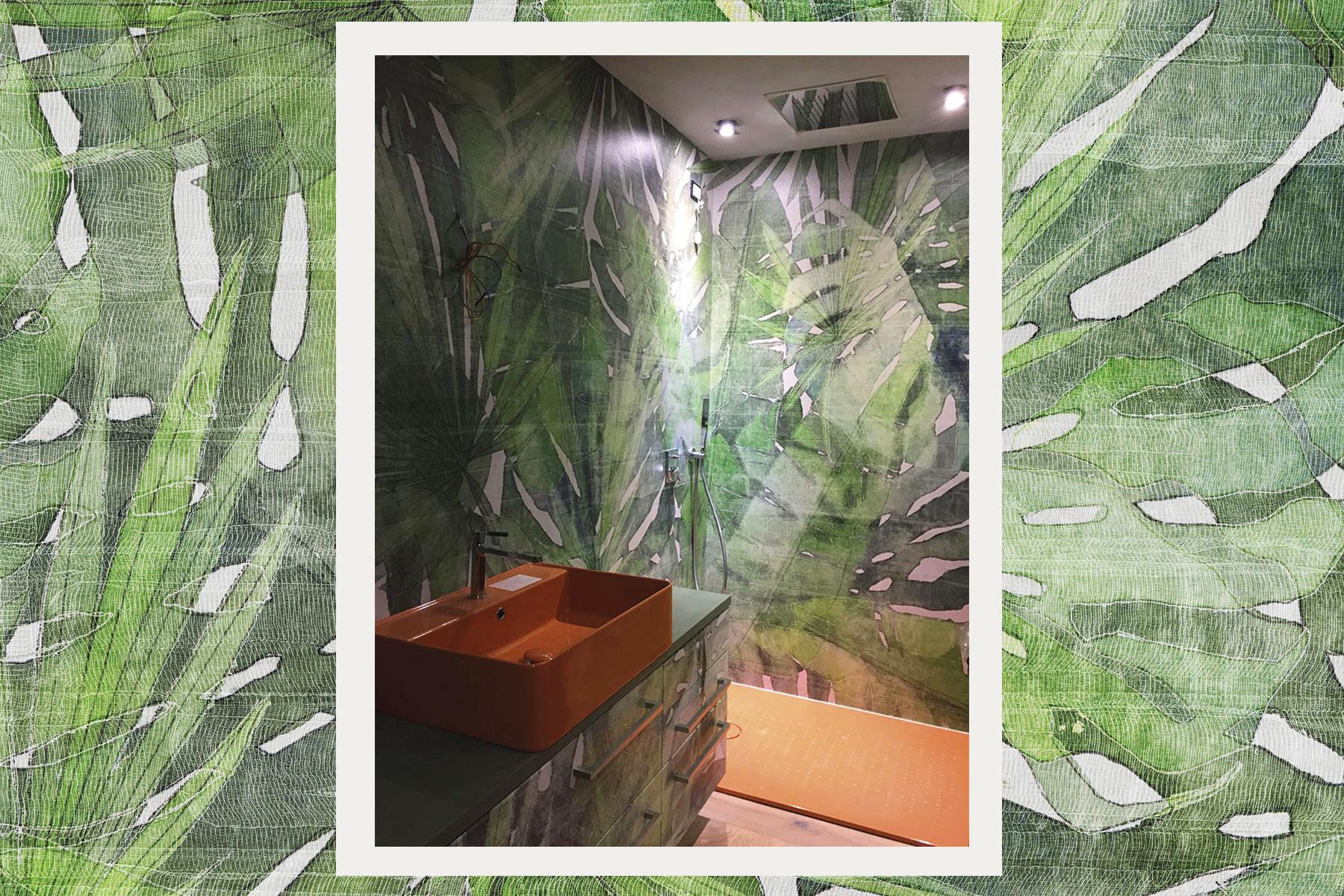 Per questo motivo può essere utilizzata anche per rivestire le pareti della doccia senza alcun problema di funzionalità e prestazioni. Carta Da Parati Fitzcarraldo In Fibra Di Vetro Per Bagno E Interno Doccia Tecnografica