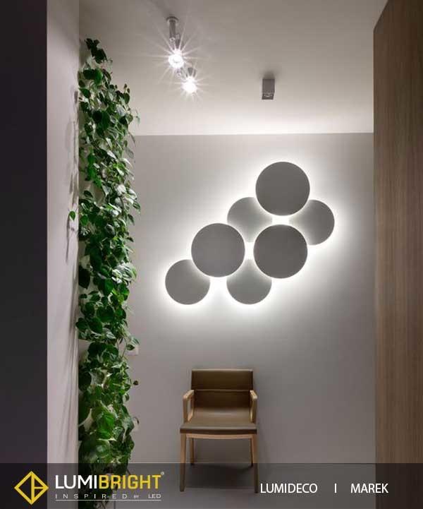 Lumideco range of creative wall lights for adding decor to ... on Creative Wall Design Ideas  id=89982