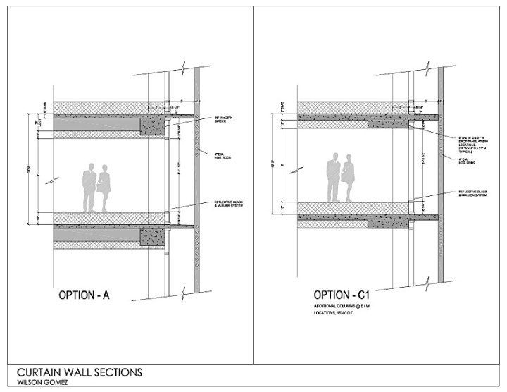 Kimmel Center Glass Curtain Wall Detail : Curtain wall detail section gopelling
