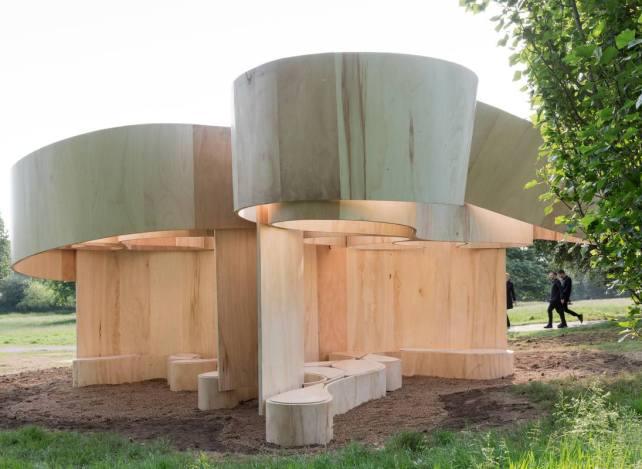Serpentine Summer House 2016 designed by Barkow Leibinger; (10 June – 9 October); Photo © Iwan Baan