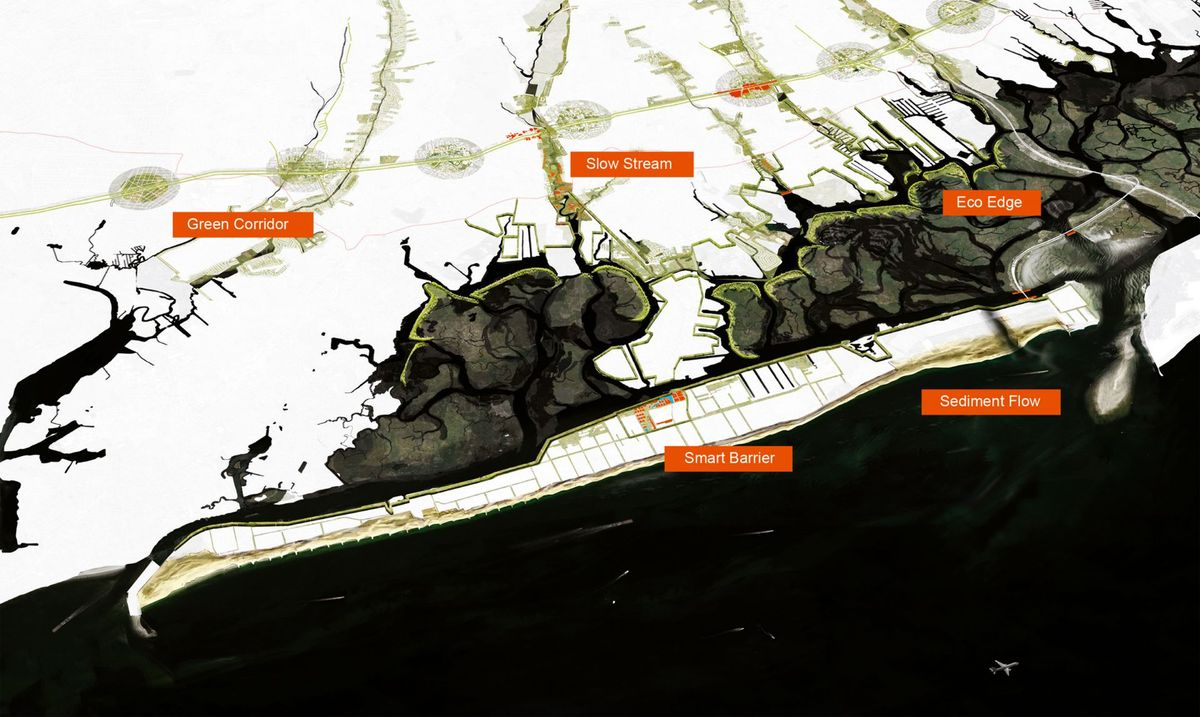 An aerial overview of Interboro Partner's plan,