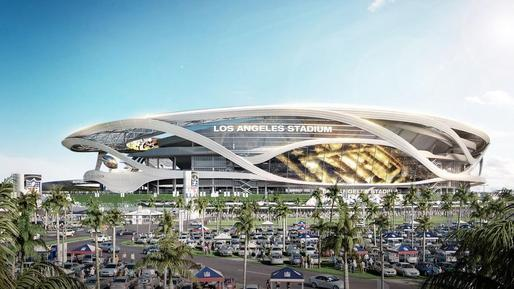 New renderings of the proposed $1.7-billion NFL stadium in LA's Carson suburb were unveiled yesterday. (steelblue + MANICA; Image via latimes.com)