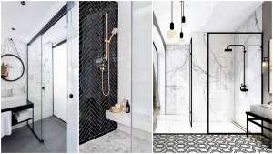 Airy Transparent Bathrooms And Door Less Walk In Shower