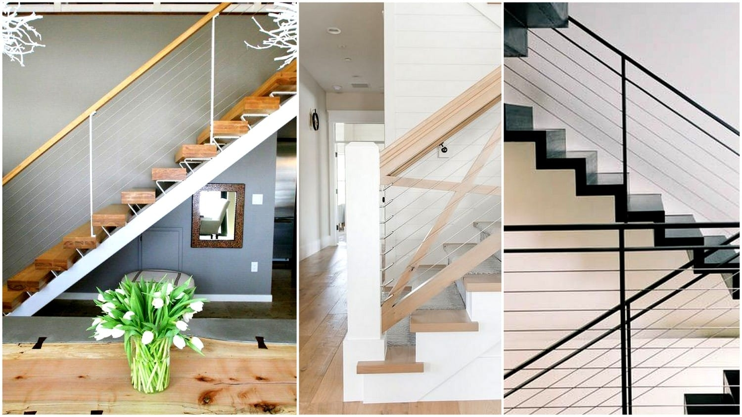 What You Need To Know And How To Use Cable Railings In Your | Wood And Cable Stair Railing | Dark | Diy | Exterior Irregular Stair | Residential | Forgings