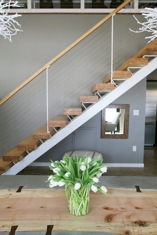 What You Need To Know And How To Use Cable Railings In Your | Cable Stair Railing Indoor | Exterior Irregular Stair | Vertical | Wood | 90 Degree Stair | Stainless