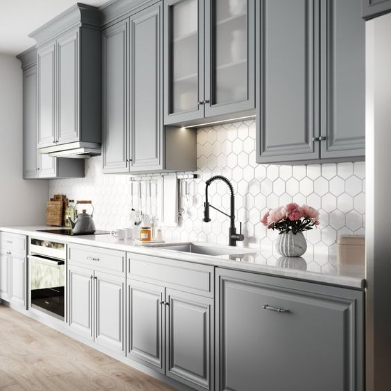 Download Gray And White Kitchen Pics