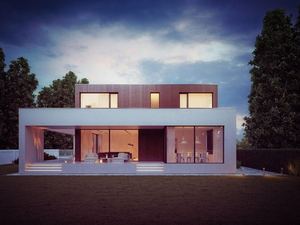Wooden Cube House By 81.WAW.PL