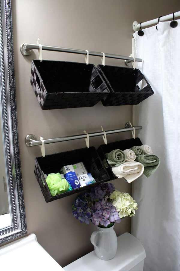 The editors of publications international, ltd. 30 Brilliant DIY Bathroom Storage Ideas | Architecture