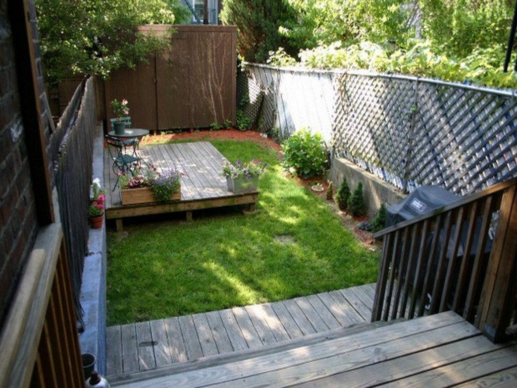 23 Small Backyard Ideas How to Make Them Look Spacious and ... on Narrow Backyard Landscaping Ideas  id=59424
