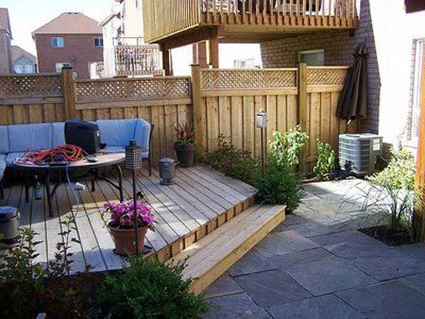 23 Small Backyard Ideas How to Make Them Look Spacious and ... on Back Patio Landscape Ideas id=26002