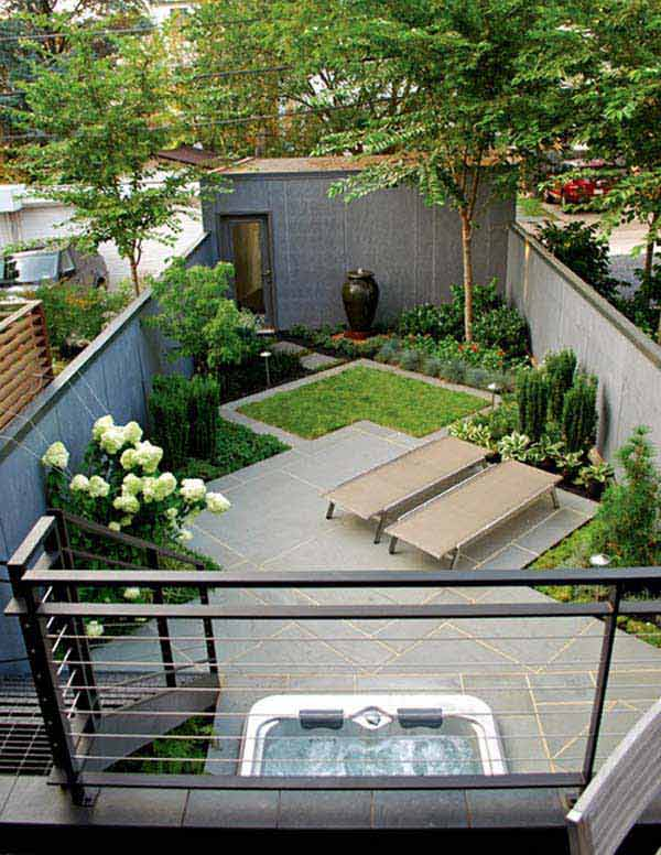 23 Small Backyard Ideas How to Make Them Look Spacious and ... on Narrow Backyard Landscaping Ideas  id=43587
