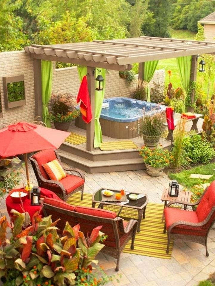 23 Small Backyard Ideas How to Make Them Look Spacious and ... on Cozy Patio Ideas  id=96800