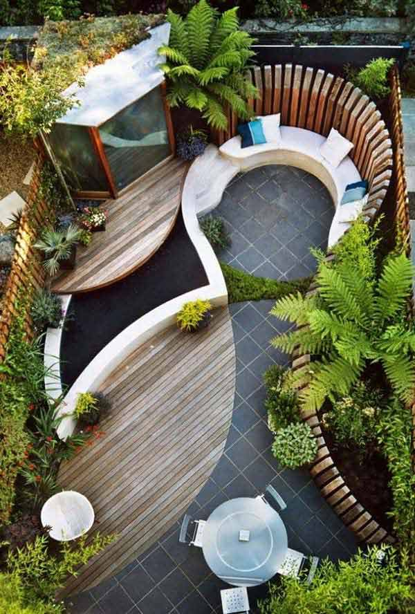 23 Small Backyard Ideas How to Make Them Look Spacious and ... on Back Patio Landscape Ideas id=65733
