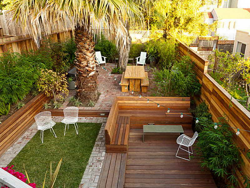 23 Small Backyard Ideas How to Make Them Look Spacious and ... on Patio And Grass Garden Ideas id=23362