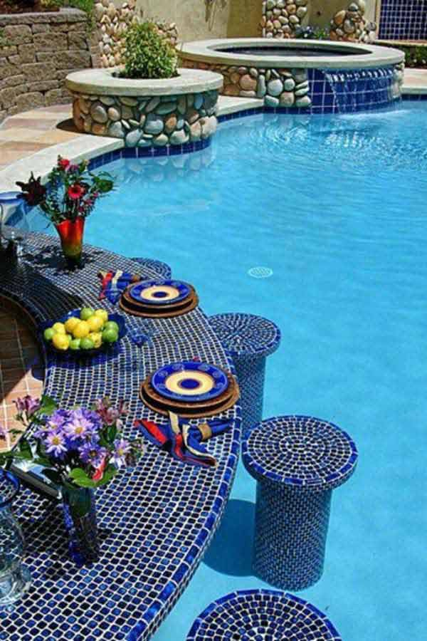 25 Summer Pool Bar Ideas to Impress Your Guests ... on Backyard Pool Bar Designs id=11552